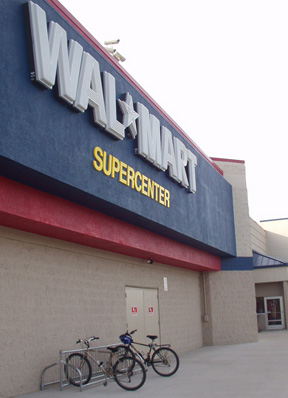 Wal-Mart Bike Rack :: Thanks to Terri's efforts, this new rack now rests in front of the Benner Pike Wal-Mart