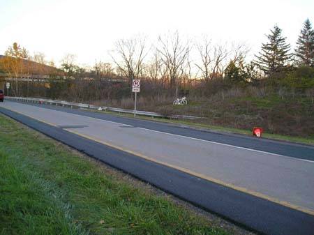 Warner Dr. Shoulders Repaved :: Photo by Paul Rito