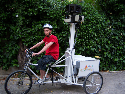 Google Street View Trike :: Roads? Where we're going, we don't need roads.